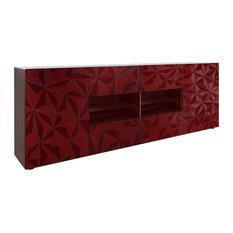 Prisma Decorative Sideboard, 241 cm, Red
