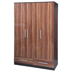 Lotus 3-Door and 2-Drawer Wardrobe