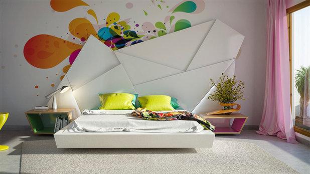 Insolite 14 t tes de lit s 39 affranchissent des codes - Decoration chambre psychedelique ...