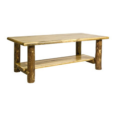 Glacier Country Collection Coffee Table With Shelf by Montana Woodworks