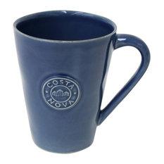Nova Coffee Mugs, Denim Blue, Set of 6