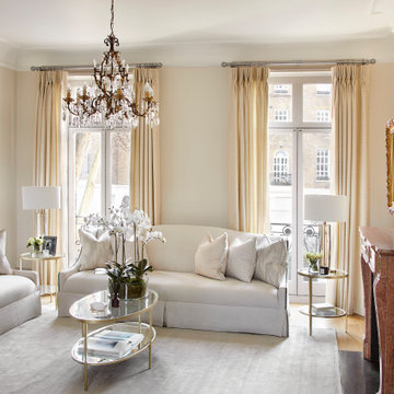 Living room in a Belgravia Townhouse Designed by Rose Narmani