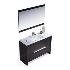 Milan 48-inch Vanity Set With Mirror Silver Gray