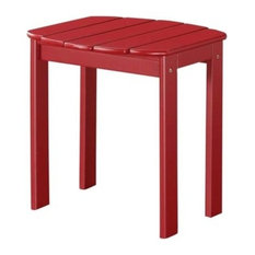 Red Adirondack End Table, Red