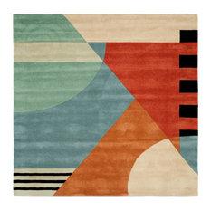 safavieh rodeo drive square 8u0027 square gold area rug area rugs