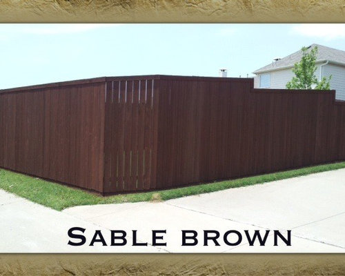 Sable Brown Stain Fence
