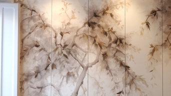 Bauhinia Hand-painted Wallpaper