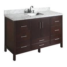 "California 60"" Bath Vanity, Base: Chocolate, Single Vanity"