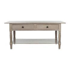 Safavieh Boris 2 Drawer Coffee Table Vintage Gray Tables