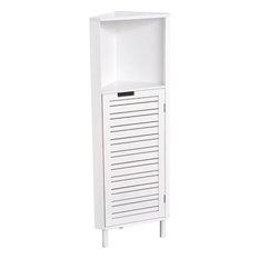 Bathroom Corner Cabinet Shelf Miami 1 Louver Door White