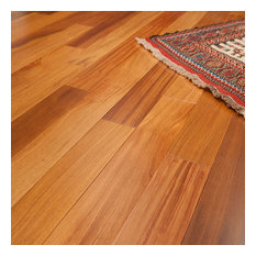 "5""x1/2"" Brazilian Teak Prefinished Engineered Wood Flooring, 1 Box"