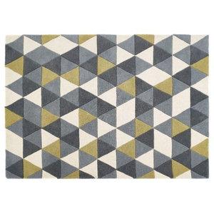 Honeycomb Origins Rug Ochre Rectangular Funky Rug, 160x230 cm
