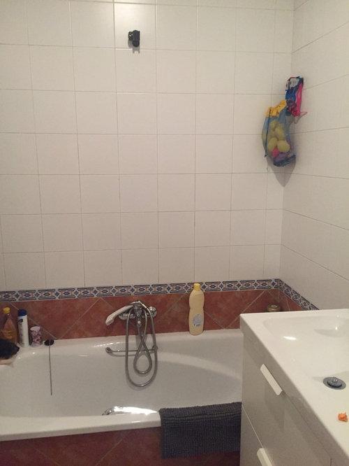 Se Usó Vinilo En Click Para El Suelo Y Para Las Paredes Revestimiento Para  Baño Con Perfiles De Aluminio. ¿Qué Os Parece El Cambio?