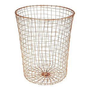 Design Ideas Cabo Woven Wire Waste Bin in Copper