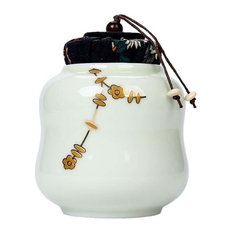Japanese-style Tea Caddy Storage,portable Sealed Tea Canister,spices Candy Cookie Nuts Cereal Pottery Canister-a 8x9cm 3x4inch