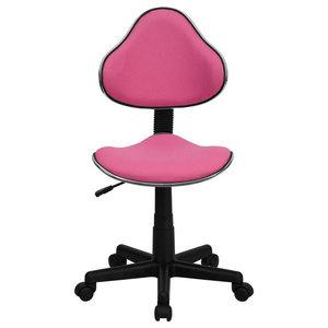 "Ergonomic Swivel Task Chair, Pink, 17.75""x20.50""x33"", 37.50"""