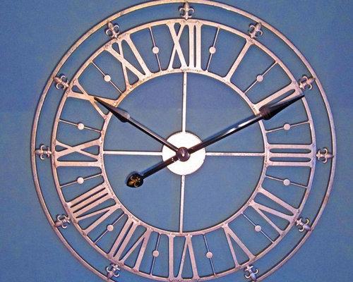 Clocks; Large Decorative Metal Wall Clocks
