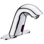 Fontana Showers - Fontana Conto Commercial Chrome Automatic Motion Sensor Bathroom Faucet - Fontana Conto Commercial Chrome Automatic Motion Sensor Bathroom Faucet