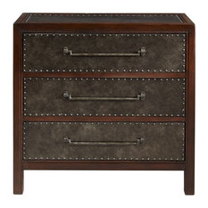 Madison Park Tracer Wood Chest, Brown Multi Walnut