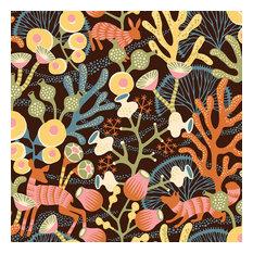 Contemporary Coral Pattern Wallpaper, Black, Bolt
