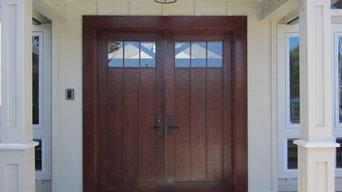 Koga Residence - Merbau Hardwood Entry Doors