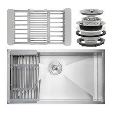"AKDY 32""x18""x9"" Undermount Handmade Stainless Steel Single Bowl Kitchen Sink"