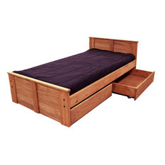 Twin Bed With Storage Mahogany Stain, 31350-211