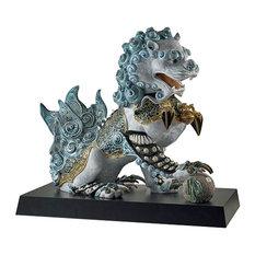 Lladro Guardian Lion Blue