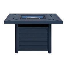 "OVE Decors Bari II 42"" 50000-BTU Dark Grey Square Aluminum Fire Table"