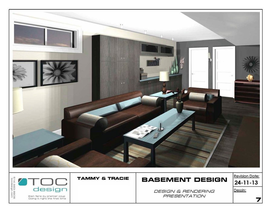 Basement design & Construction Drawings
