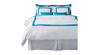 LaCozi Turquoise and White Duvet Cover Set, King
