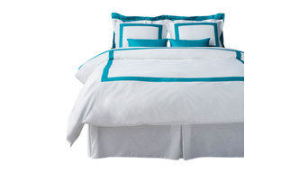 LaCozi Turquoise and White Duvet Cover Set, King