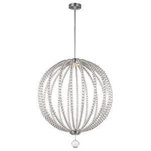 2-Light Large LED Pendant, Satin Nickel