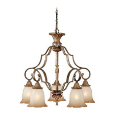 Vaxcel Lighting Kimball 5-Light Chandelier Tuscan Bronze