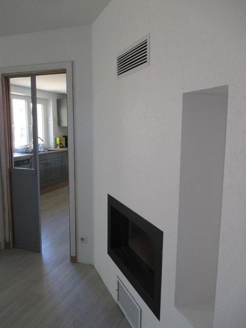 Verrière atelier et cheminée double foyer