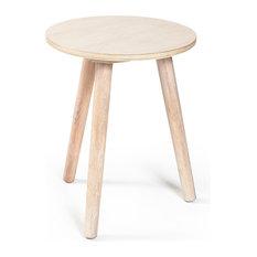 - Ray Sidobord 50 cm, Vitpigmenterad Ek - Hopfällbara stolar & pallar