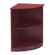 Mayline 2 Shelf Quarter Round Bookcase In Sierra Cherry Finish VBQ2CRY