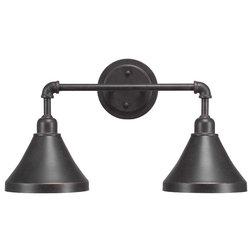 Industrial Bathroom Vanity Lighting by Toltec Lighting