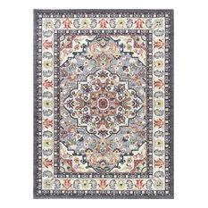 Celestina Traditional Oriental Multi-Color Rectangle Area Rug, 8' x 10'