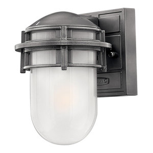 Reef Outdoor Wall Light, Hematite, Small