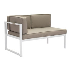 Golden Beach Chaise Left-Hand Facing White and Taupe