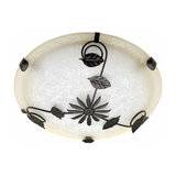 Ceiling light Provence with floral decoration