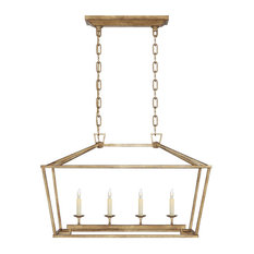 Visual Comfort Lighting E.F. Chapman Darlana 4-Light Lantern, Gilded Iron
