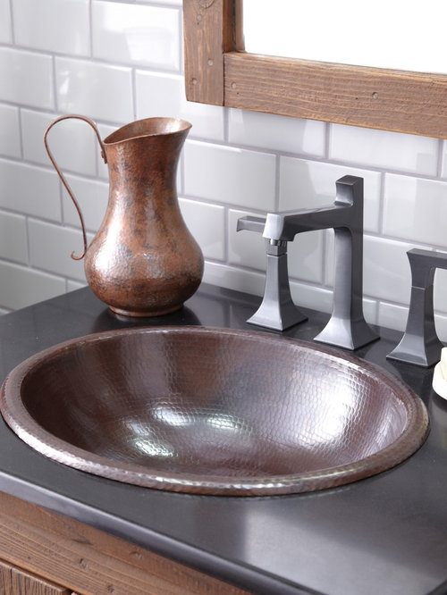 Rolled Classic Antique Copper Bathroom Sink By Native Trails Bathroom Sinks
