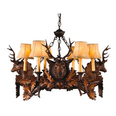3 Small Stag Head Chandelier