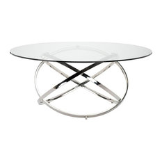 Caleb Dining Table Clear 59-inch