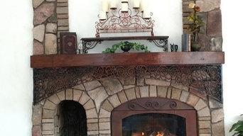 Fireplace Mantel Wrought Iron