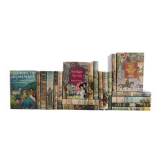 Decorative Books, Midcentury Dustjacket Novels, 20-Piece Set