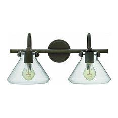 hinkley lighting hinkley lighting 50026 congress 2 light bathroom vanity light oil rubbed