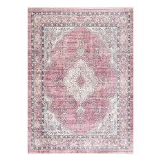 nuLOOM Debra Fringe Vintage-Style Area Rug, Pink, 9'x12'